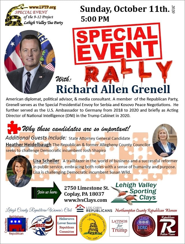 10/11 RALLY WITH RICHARD GRENNEL!